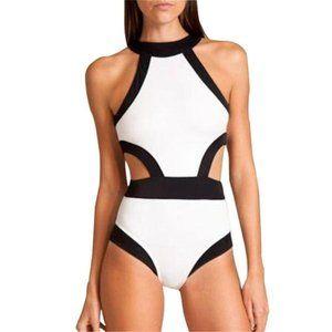 NWT Lukitty Black & White Swimsuit (M)